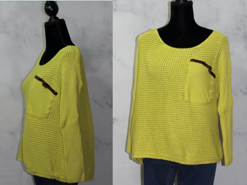 Lovely Girl Sweater Lime Green Sweater (S-M)