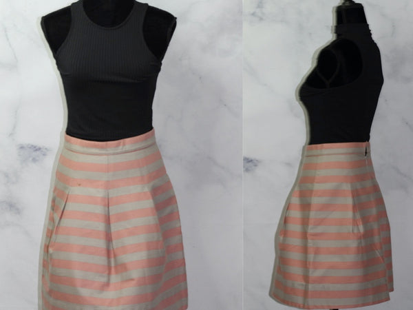 Corey Lynn Cater Pink & Grey Stripe Skirt by Anthropologie  (8)