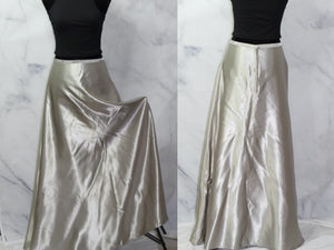 Handmade Silver Long Ankle Skirt (S-M)