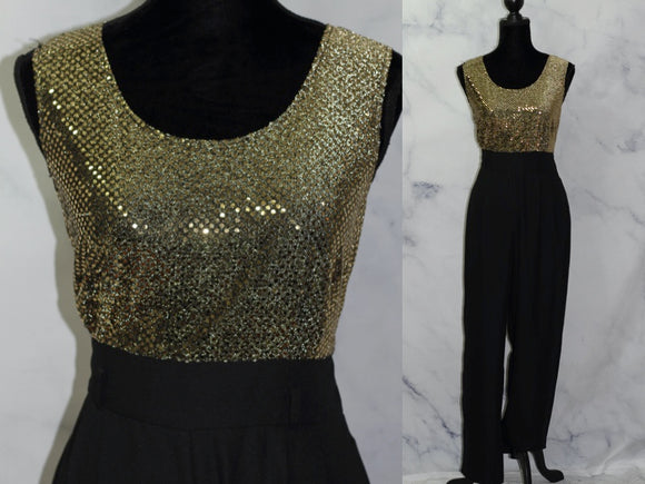 John Roberts Gold & Black Jumper (10 Tall)