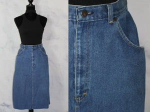 Cheryl Deigo Denim Blue Jean Skirt (12)