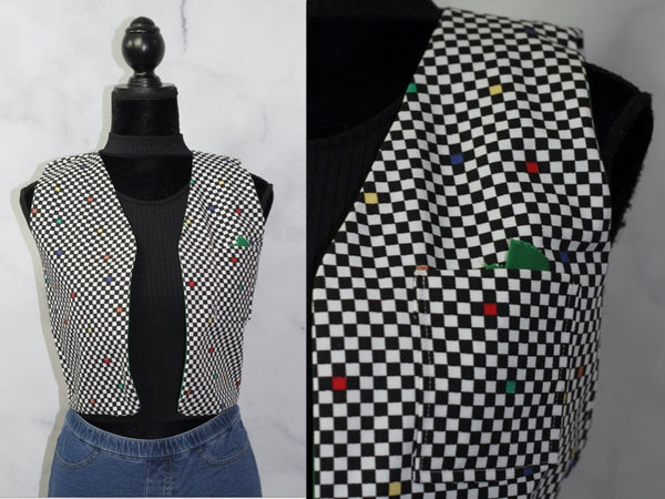 Multi- Color Checker Vest (S)