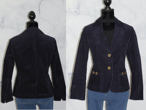 Talbots Petites Cotton Navy Blue Jacket (8)