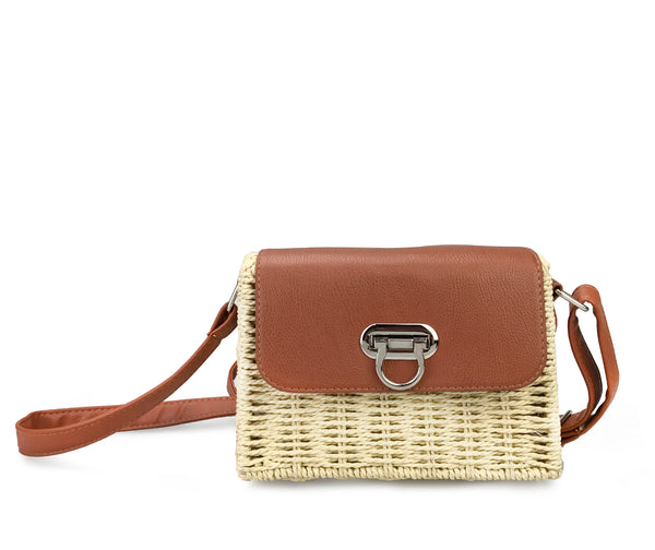 0f6f2fb06c25 Vintge Straw Basket Case Cross Body Bag Womens Small Vacation Purse ...
