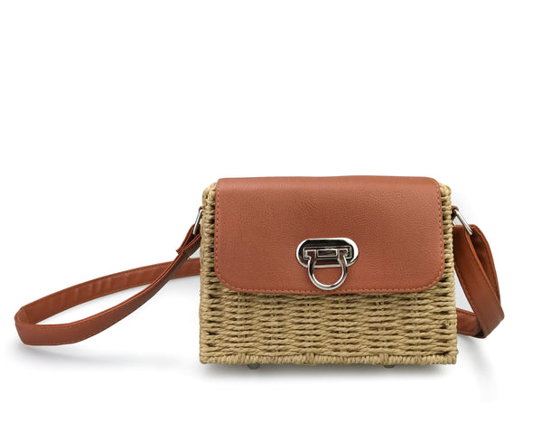 0114eff3c2fe ... Vintge Straw Basket Case Cross Body Bag Womens Small Vacation Purse ...