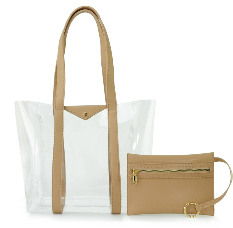 Clear Tote with Pouch