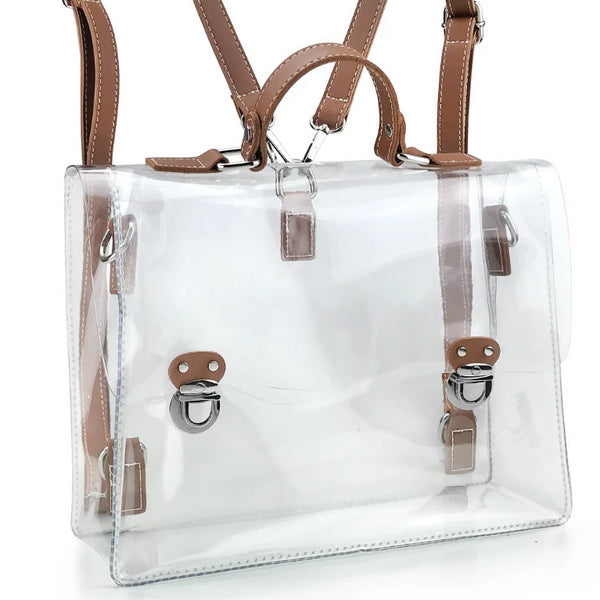 Clear Vintage Satchel Backpack