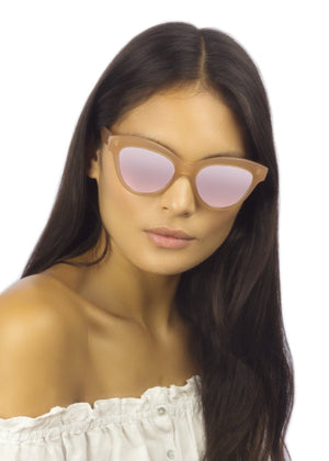 SW1A VICTORIA / MILKY PINK MIRROR - Fashion Women's Sunglasses Sienna Alexander London