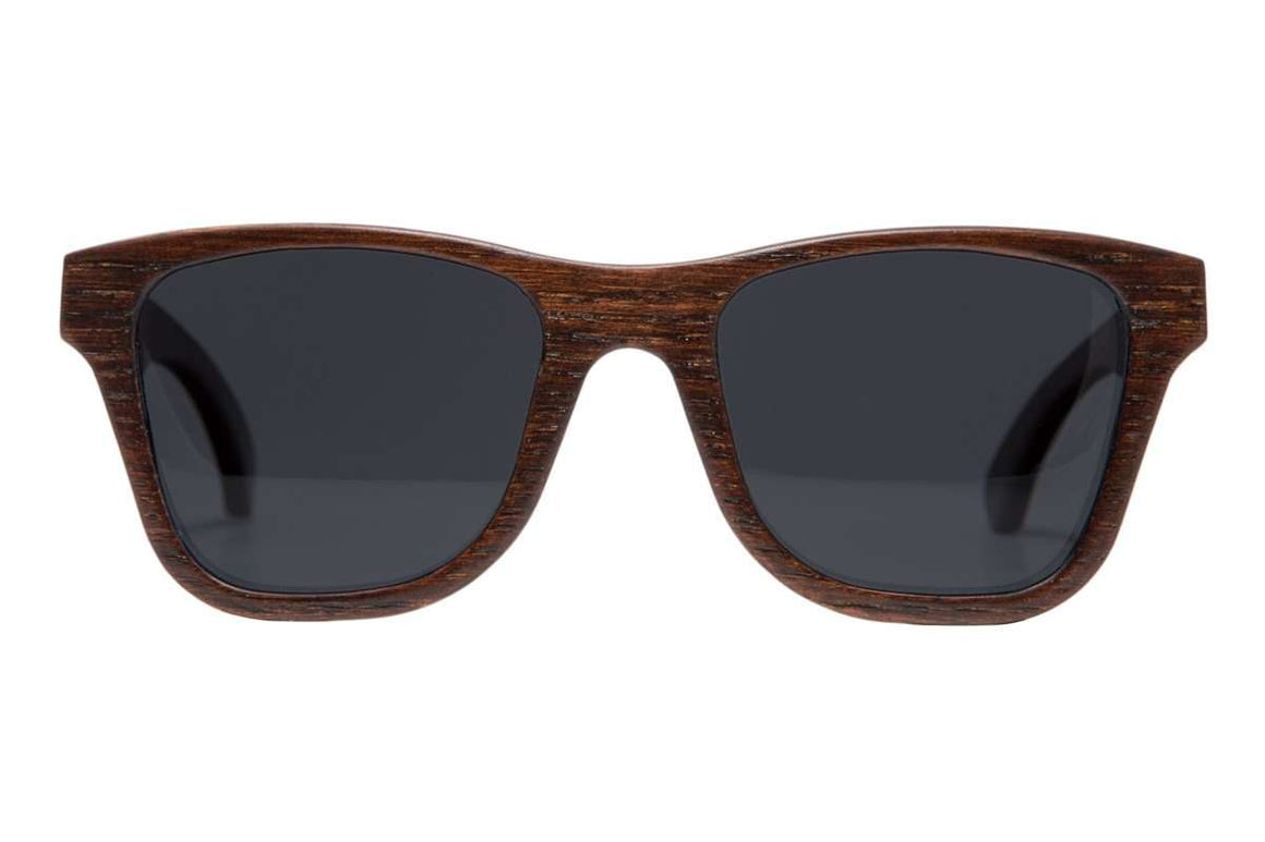 Star - Brown Birch Wooden Sunglasses