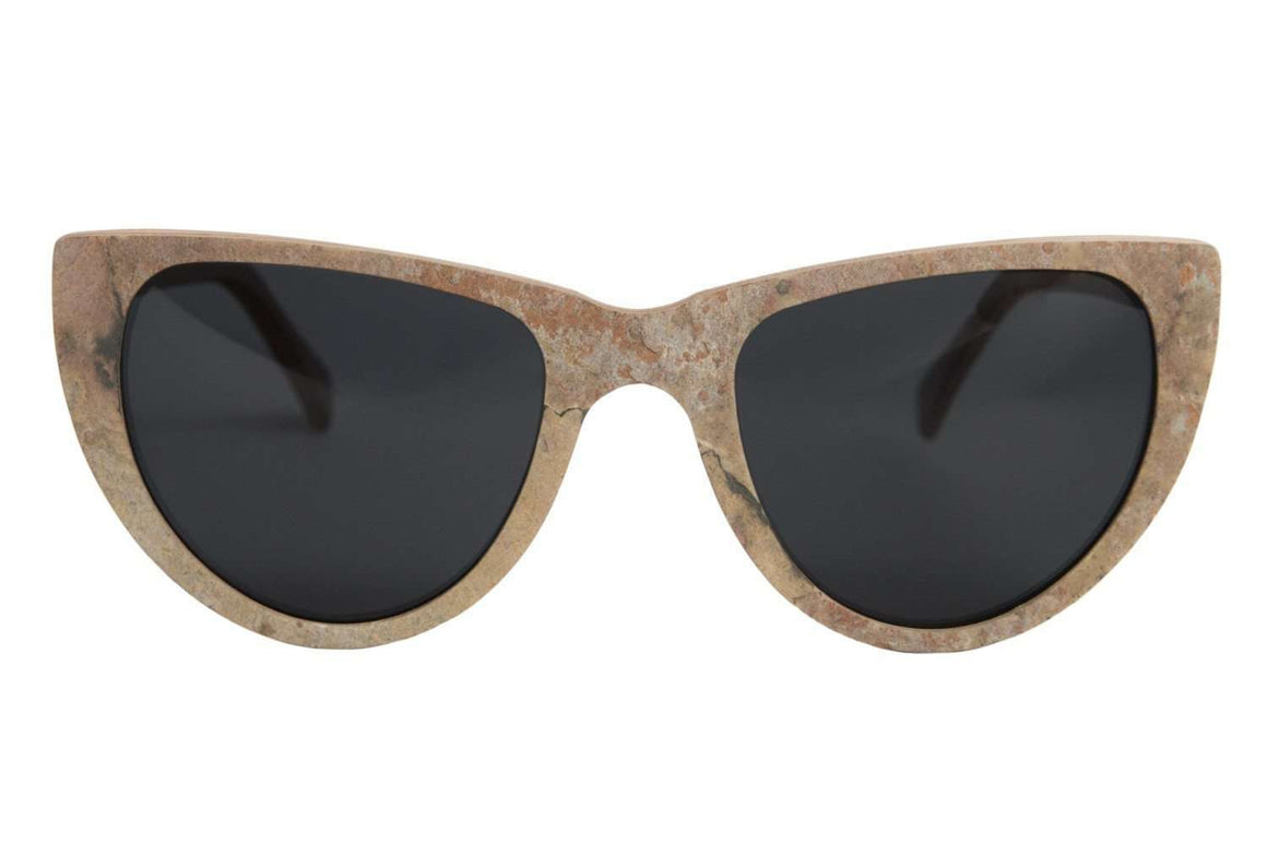 Siros - Golden Slate Stone and Wood Sunglasses - Propwood - 1