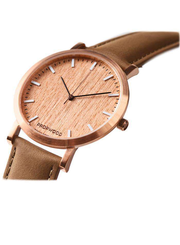 Watch - Cherry Wood Swiss Quartz Watch