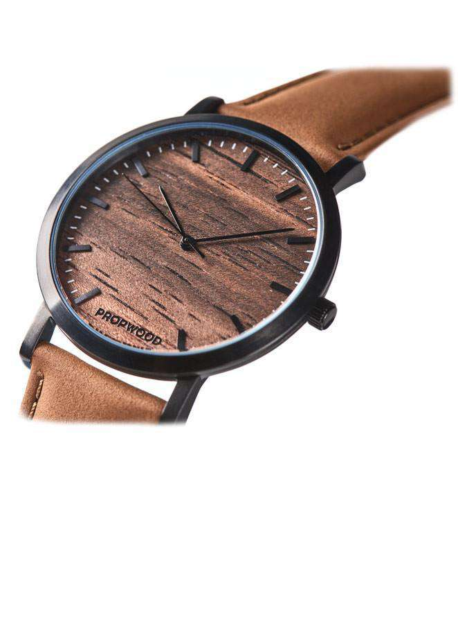 Sandalwood Swiss Quartz Watch Sandal Leather Strap - Propwood