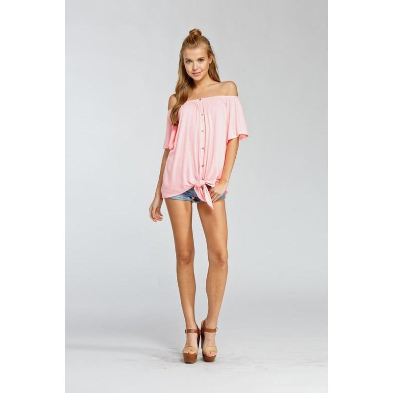 Summer Sweetheart off the shoulder top