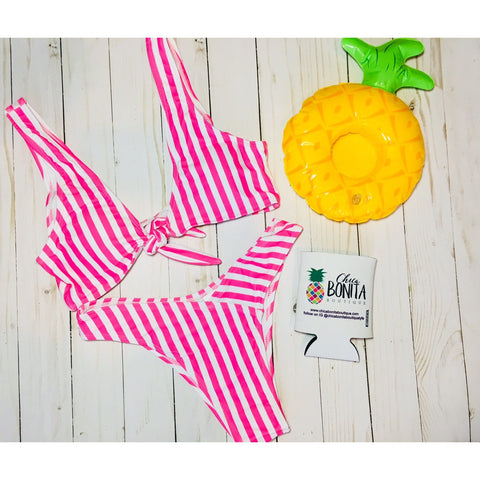 Tropical print bikini 2 piece set