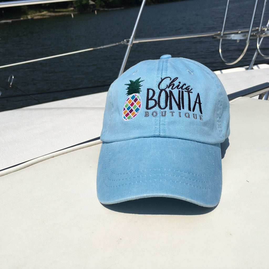 Chica Bonita Logo hat with adjustable leather strap