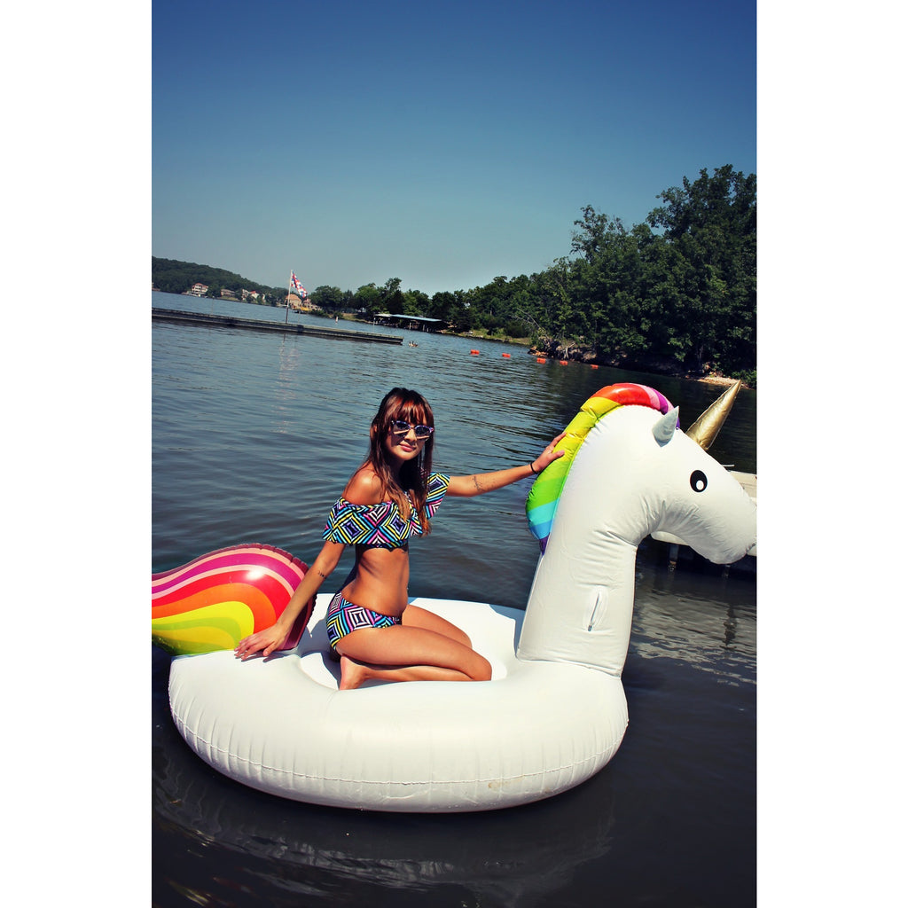 The Rainbow off the shoulder bikini