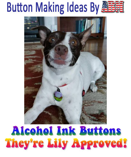 Button Making Ideas by ABM - Alcohol Ink Buttons