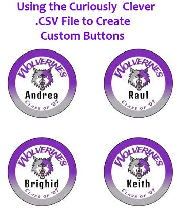 How to Create a Mail Merge List for Custom Name Buttons