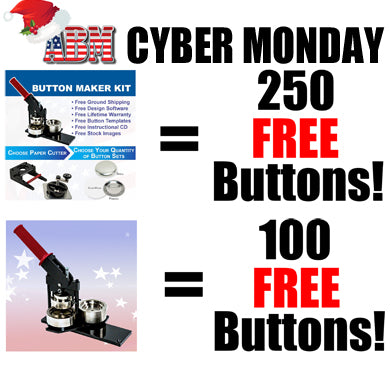Free Buttons from ABM in our Cyber Monday Spectacular!