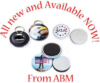 Plastic Backed Bottle Openers, Collet Magnets and Flatbacks - New From ABM!
