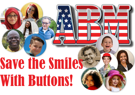 Photo Buttons Show the Smile Behind the Mask - Button Making Ideas From ABM
