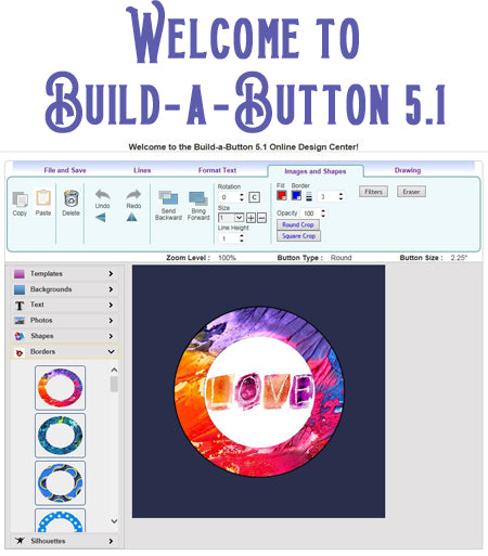 Button Making Software - Free Upgrades - Build-a-Button 5.1
