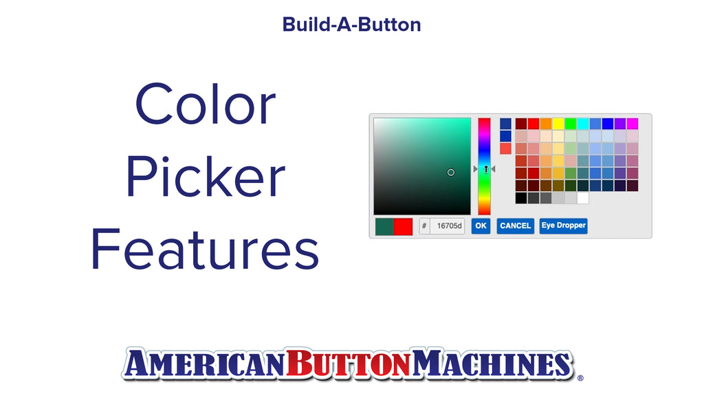 Color Picker Tool -  Build-a-Button - Button Maker Software