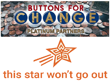Buttons for Change Partners With This Star Won't Go Out