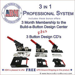 3 in 1 professional button maker kit