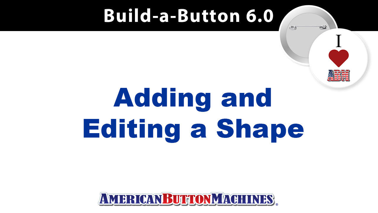 Shapes - Add and Edit Shapes