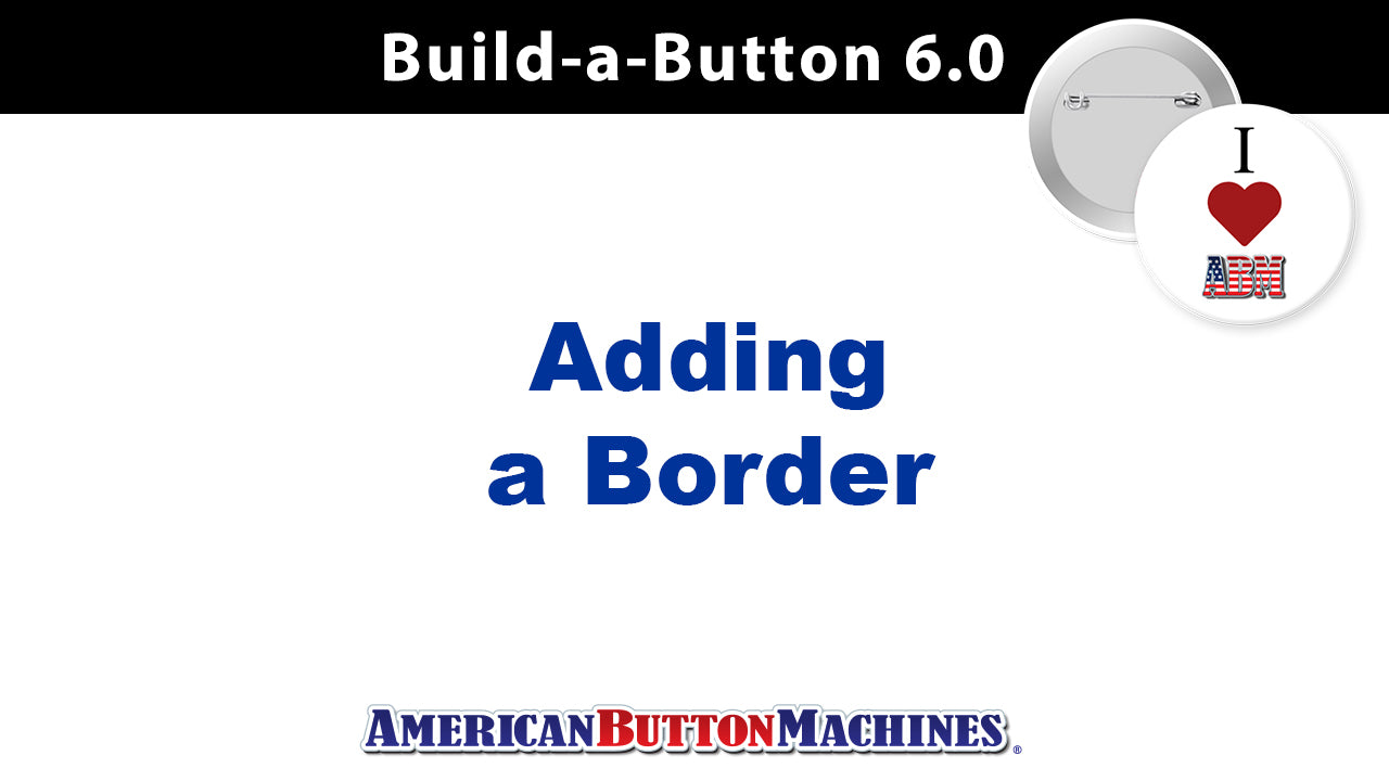 Borders - Adding a Borders to Your Design