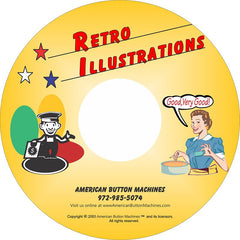 retro button design cd