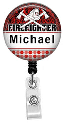 Firefighter Badge Reel