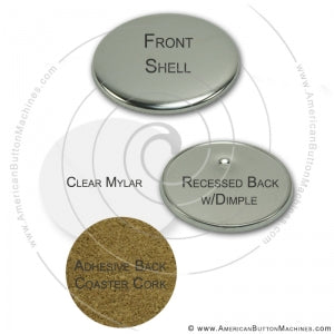 "3.5"" Coaster Button Set"