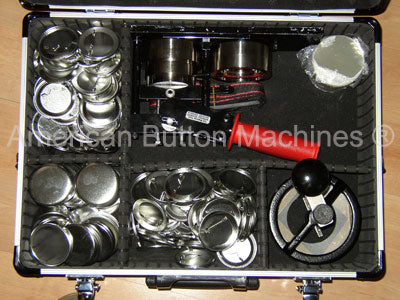 button machine supplies carrying case