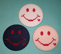 operation smiley face fabric buttons