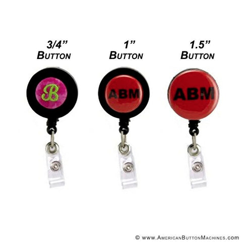 buttons on badge reels