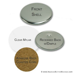coaster button supplies