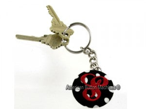 fabric covered keychain