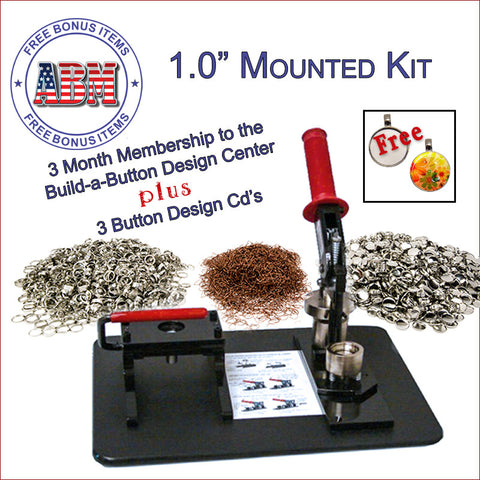 "1"" Mounted Button Making System - American Button Machines"