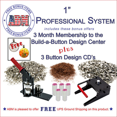 "1"" Professional Button Kit"