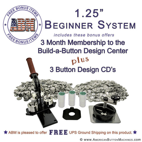 "1.25"" Beginner Button Maker Kit"