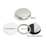 "1.25"" Collet Back Self-Adhesive Magnet Set - American Button Machines"