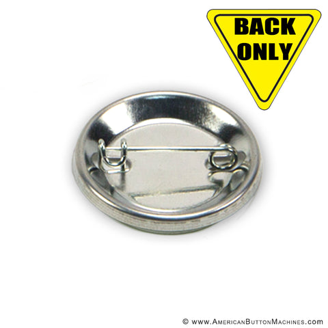 "1.25"" Pinned Backs for Button Making - American Button Machines"