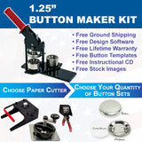 125 button maker kit