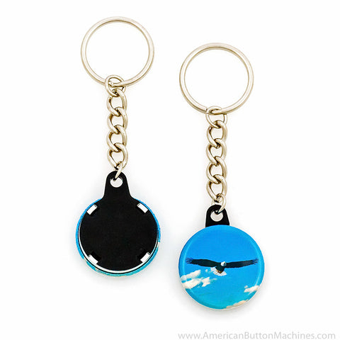 "1.25"" Versa-Back Chain Keychain Set - American Button Machines"