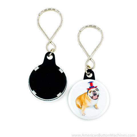 "1.25"" Versa-Back Loop Keyring Set - American Button Machines"