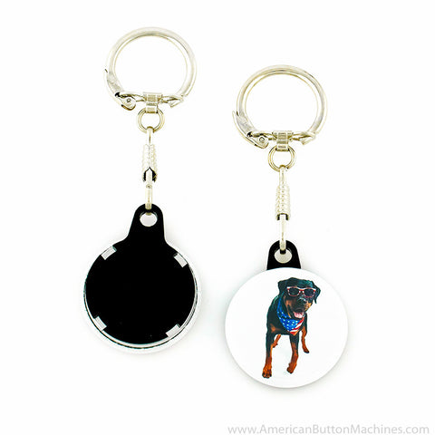 "1.25"" Versa-Back Snap Hook Keychain Set - American Button Machines"