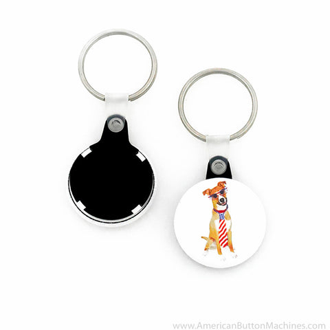 "1.25"" Versa-Back Split Keyring Set - American Button Machines"