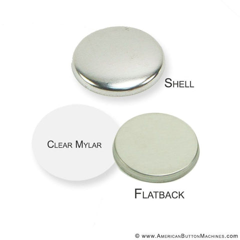 "1.25"" Metal Flatback Button Set"